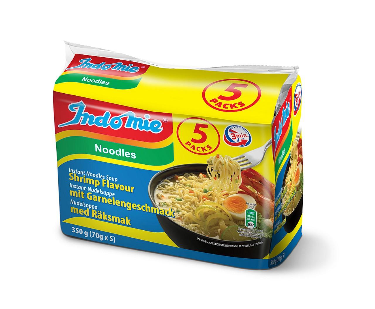 Indomie instant noodles soup Shrimp flavour