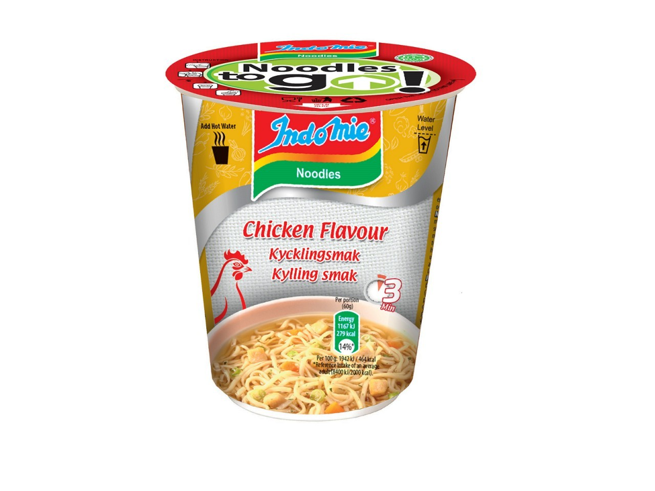 Indomie cup noodles Chicken flavour