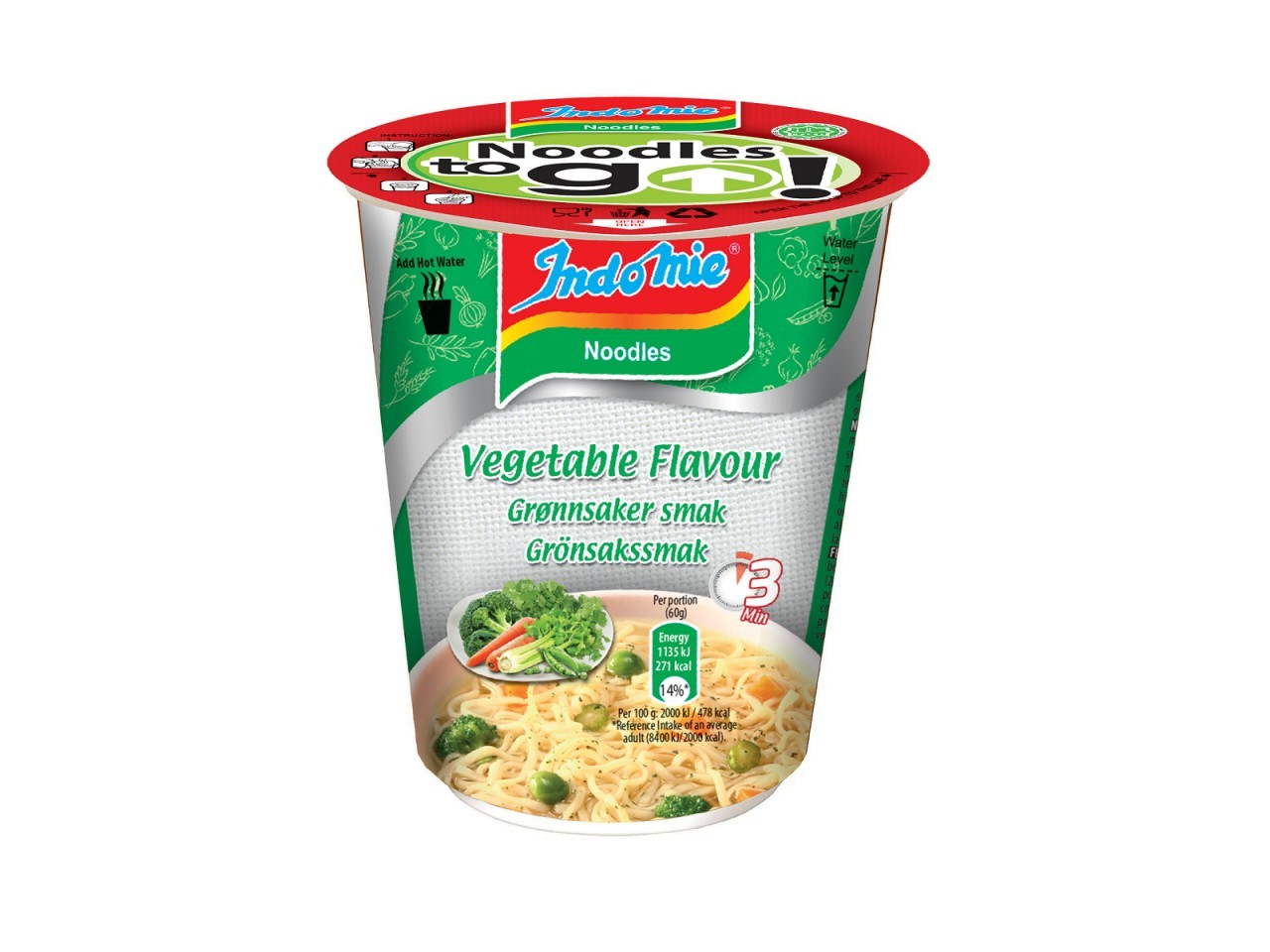 Indomie cup noodles Vegetable flavour