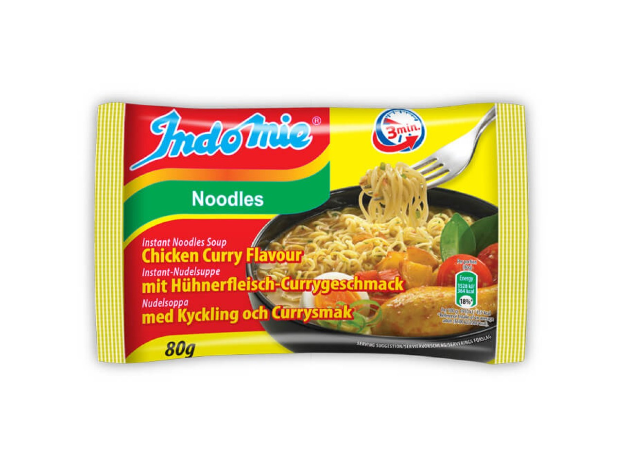 Indomie instant noodles soup Chicken-Curry flavour