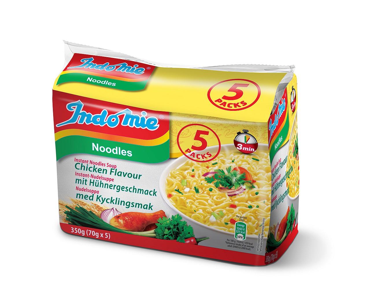 Indomie instant noodles soup Chicken flavour
