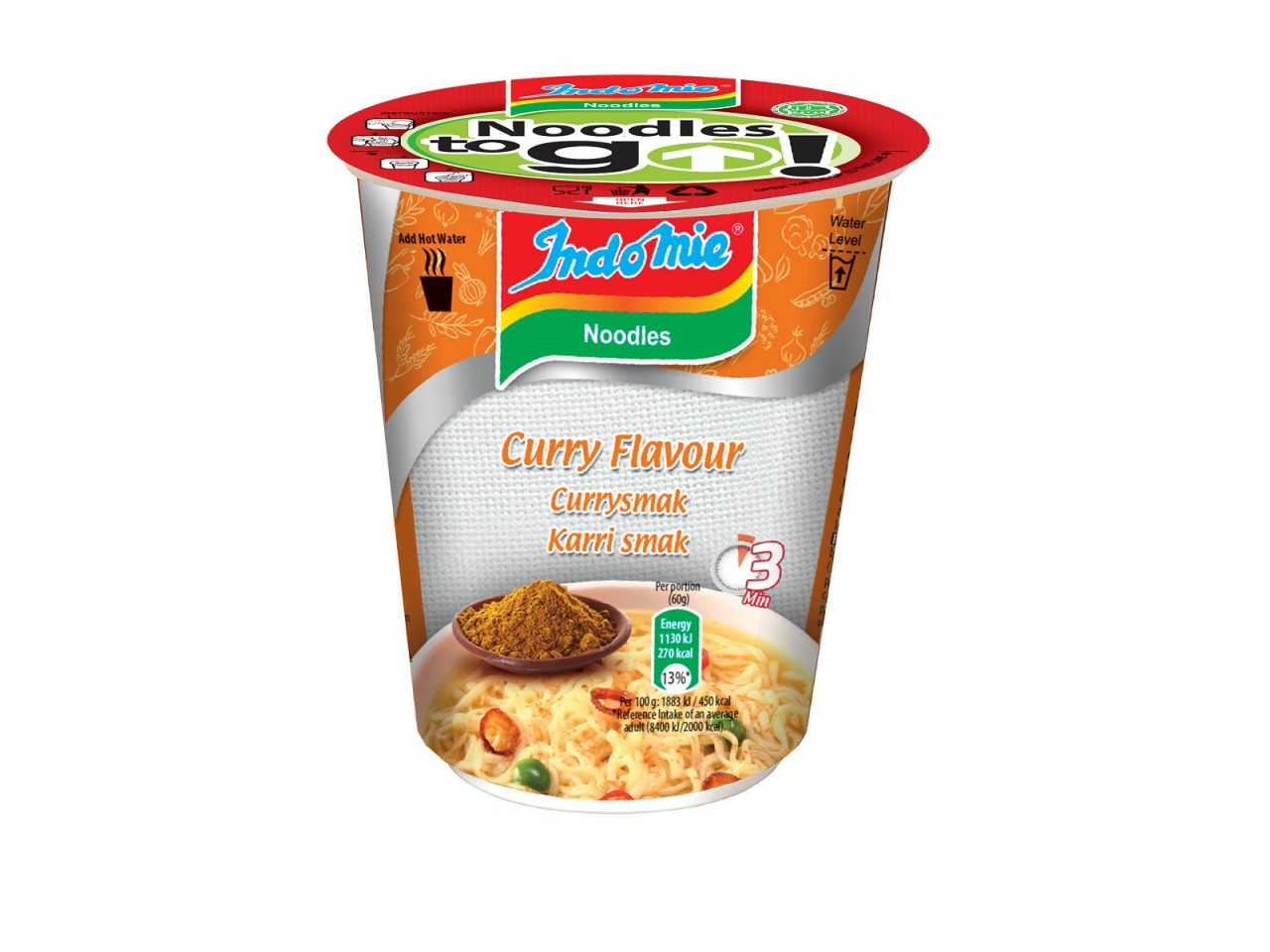 Indomie cup noodles Chicken Curry flavour