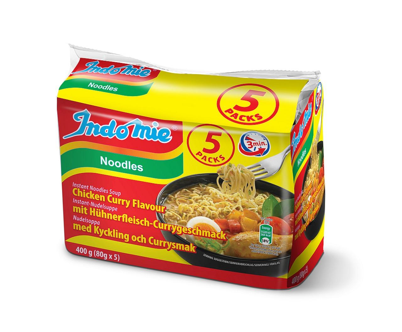 Indomie instant noodles soup Chicken-Curry flavour