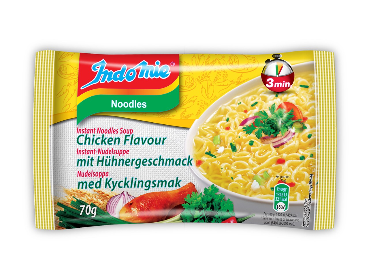 Indomie instant noodles soup Chicken flavour