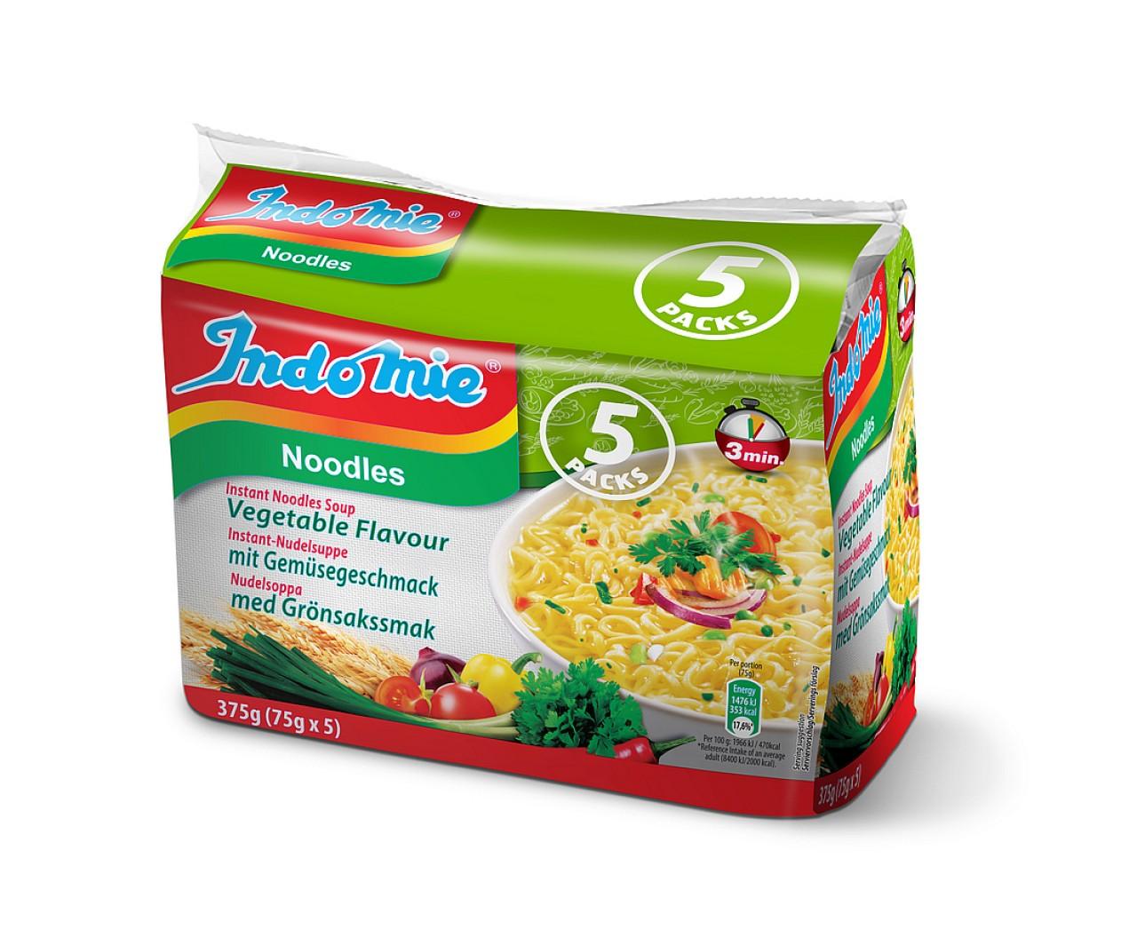 Indomie instant noodles soup Vegetable flavour