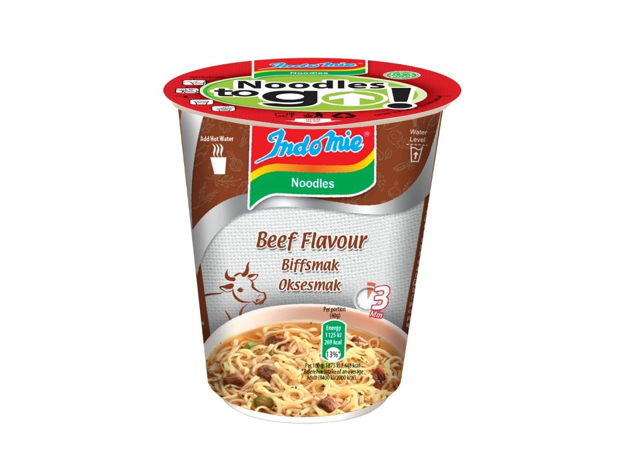 Indomie cup noodles Beef flavour